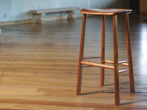 Lilypad barstool by Rolf Barfoed - Stool, Seat, Sculpted, Bar, Woodturned