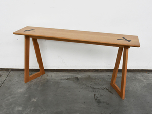 Screw Top Console  by Victoria Keesing Furniture Design - Console Table, Table, Side Table, Hall Table, Oak, Wenge, Wood, American Oak