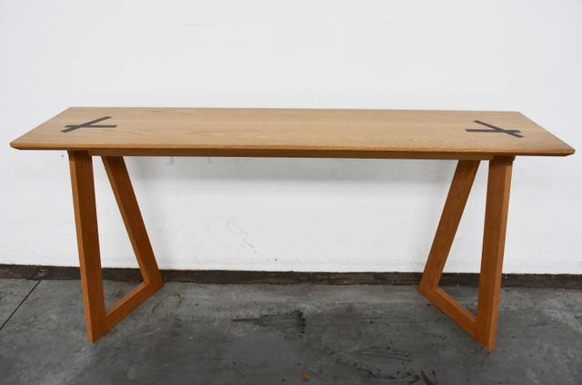 Screw Top Console  by Victoria Keesing Furniture Design - Console Table, Table, Side Table, Hall Table, Oak, Wenge, Wood, American Oak
