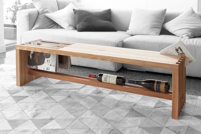 11-Point-1 by Sawdust Bureau - Coffee Table, Hallway Table, Table, Furniture, Bench