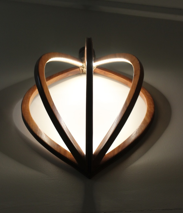Seed Pod: Wall Sconce  by Victoria Keesing Furniture Design - Lighting, New Guinea Rosewood, Rosewood, Wall Light