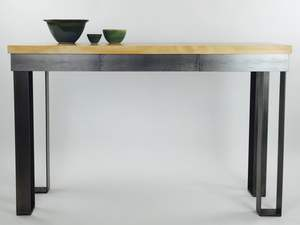 Grand hall table by Argon Bespoke - Contemporary Steel Industrial