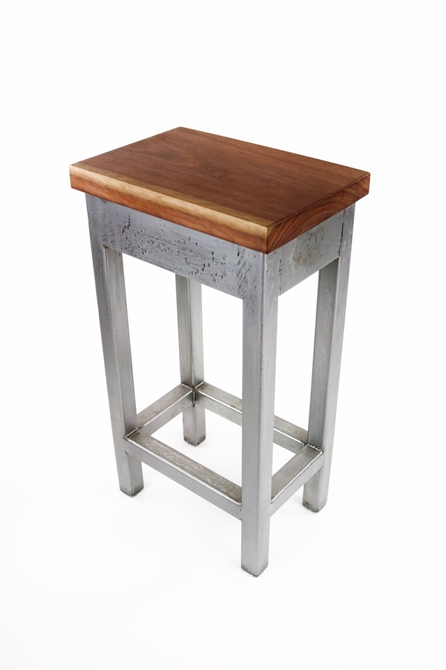 Box frame steel bar stool by Argon Bespoke - Steel Bar Stool, Industrial, Modern