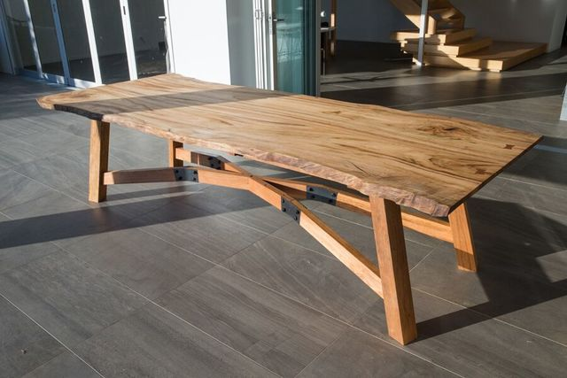 Northern Table by Backwoods Original - Table, Feature Table, Outdoor Table, Interior Table, Industrial Table, Steel And Wood, Steel And Timber, Dining Table, Concrete Table, Live Edge Table