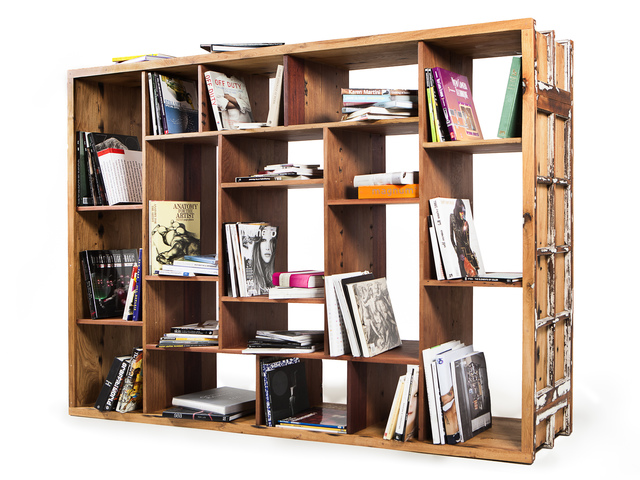 Bookcase  by Backwoods Original - Book Case, White Oak, European Oak, Recycled Furniture, Story, Shelving, Room Divider, Open Shelving, Library