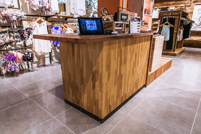 Retail Design and Fitout by Backwoods Original - Retail Fitout, Retail Design, Counter, Shelving, Lightbox, Sideboard, Table, Door, Design, Gondola