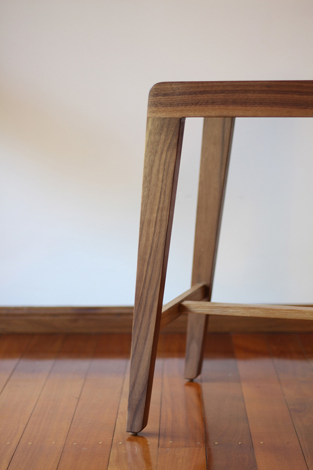 Draper barstool by David Cummins - Barstool, Sustainable, Contemporary, Walnut, White Oak