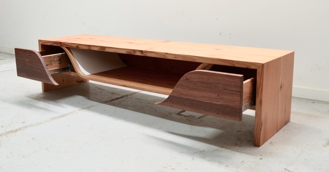 tv unit  by Luke  Neil - Timber, Tv Unit, Reclaimed, Table