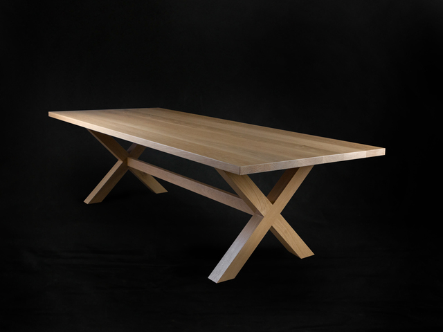 Crossbow Dining Table by makimaki Furniture Works - Dining Table, American Oak, X Legs, Brisbane