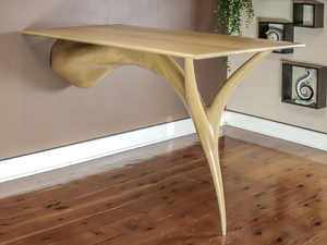 Sculpted Dining Table by Pedullá Studio - Dining Table, American Oak, Carved, Solid Wood