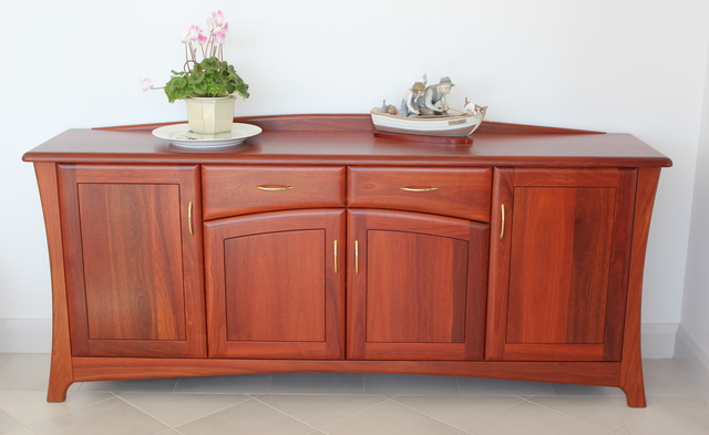 Nedlands Buffet - Jarrah  by Albany Fine Furniture - Buffet, Bespoke Sideboard, Solid Jarrah Timber, Timber Buffet Perth