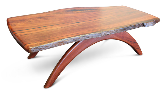 Coogee Jarrah Coffee Table by Albany Fine Furniture - Coffee Table, Solid Jarrah, Custom Natural Edge, Bespoke