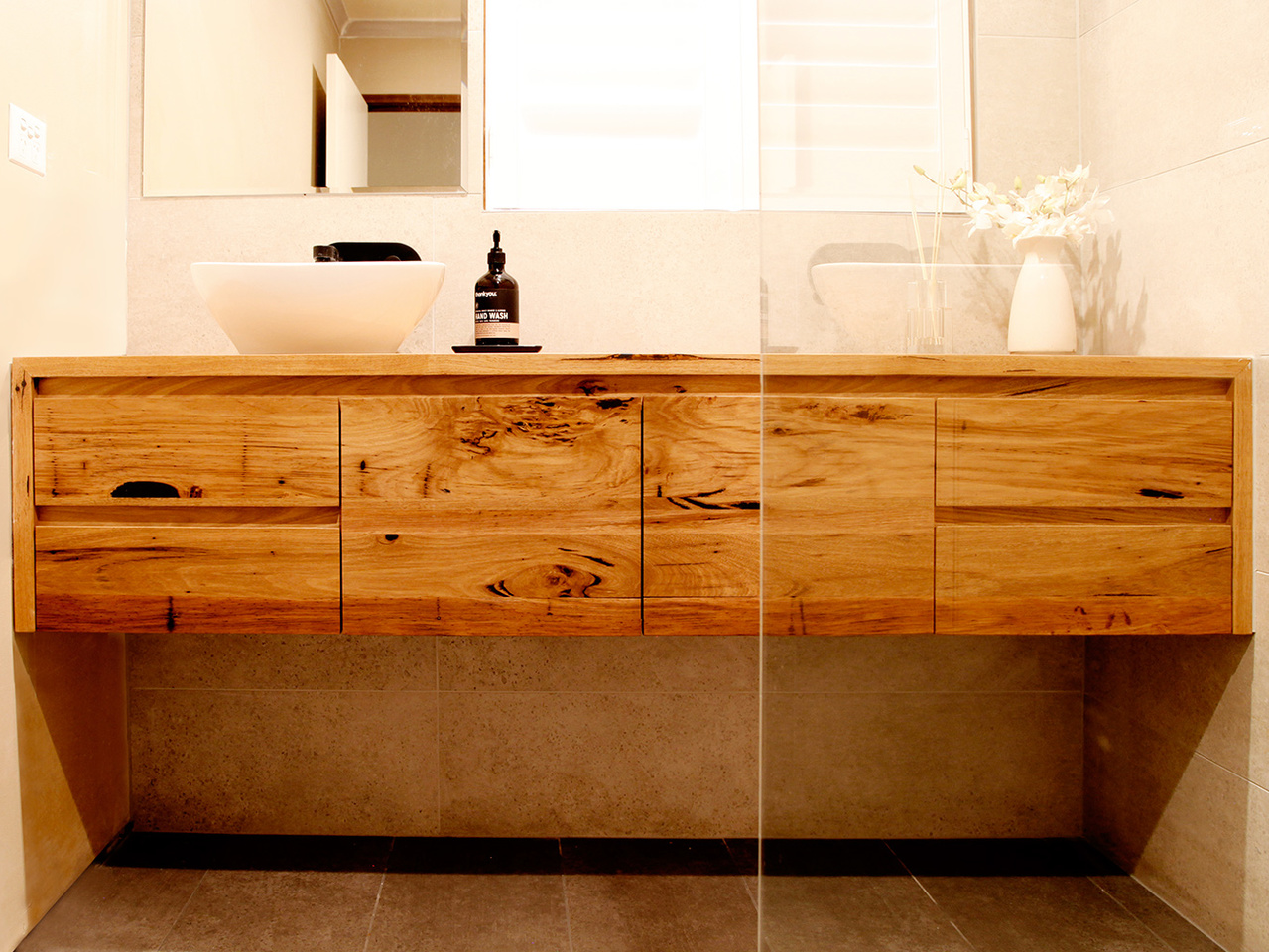 Made To Order Bathroom Cabinets Custom Timber Vanities Bringing Warmth To The Bathroom