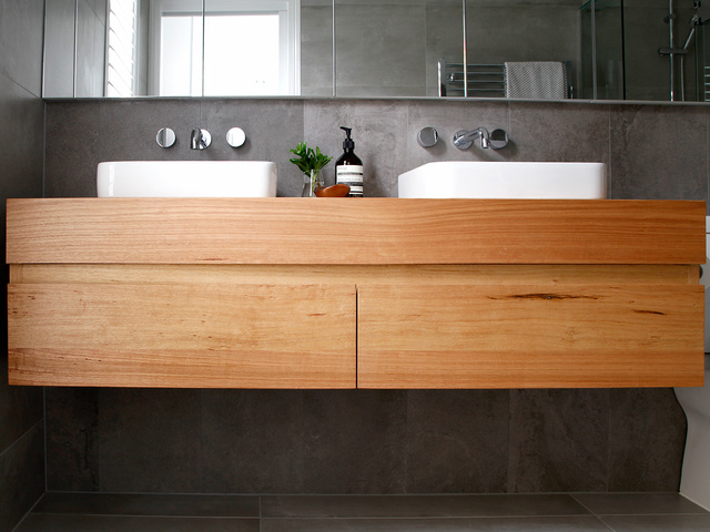 Avoca Timber Vanity by Bombora Custom Furniture - Vanity, Floating Vanity, Messmate Vanity, Timber Vanity, Custom Vantiy