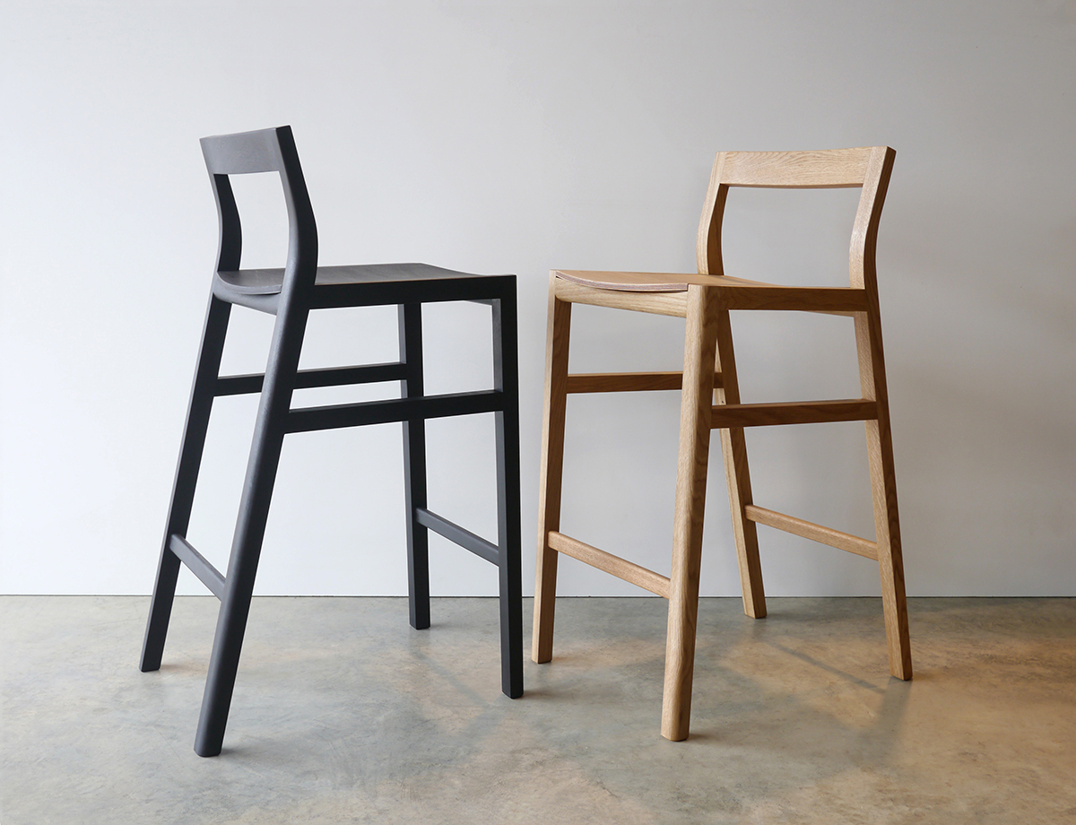 Low back bar stools by nathan day design handkrafted