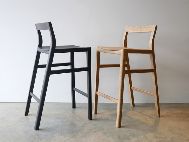 Low Back Bar Stools by Nathan Day Design - Bar Stool, Light Weight, Solid Timber