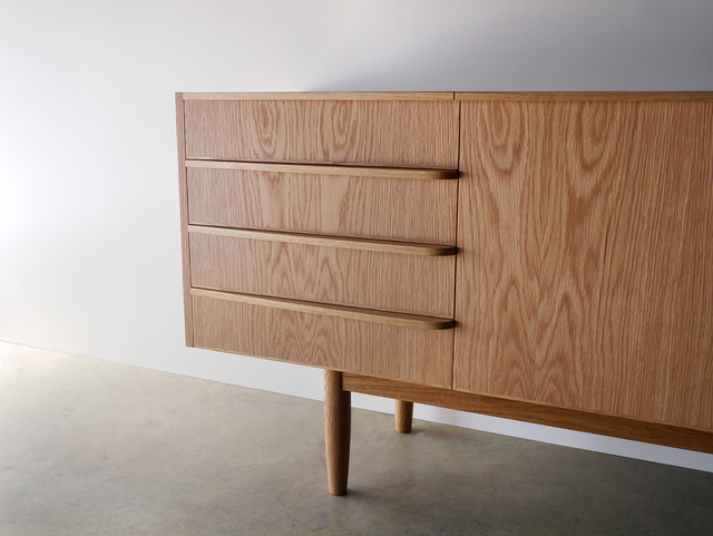 Wembley House Credenza by Nathan Day Design - Credenza, Sideboard, Buffet, Oak, Mid-Century, Classic