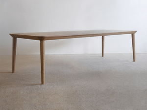 Mercator Way Table by Nathan Day Design - Torsion Box, Thick Veneer, Oak, Dining Table, Walnut, Black, Minimal, Leg Room