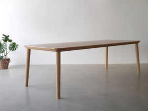 Mercator Way Dining Table by Nathan Day Design - Torsion Box, Oak, Dining Table, Walnut, Black, Minimal, Leg Room
