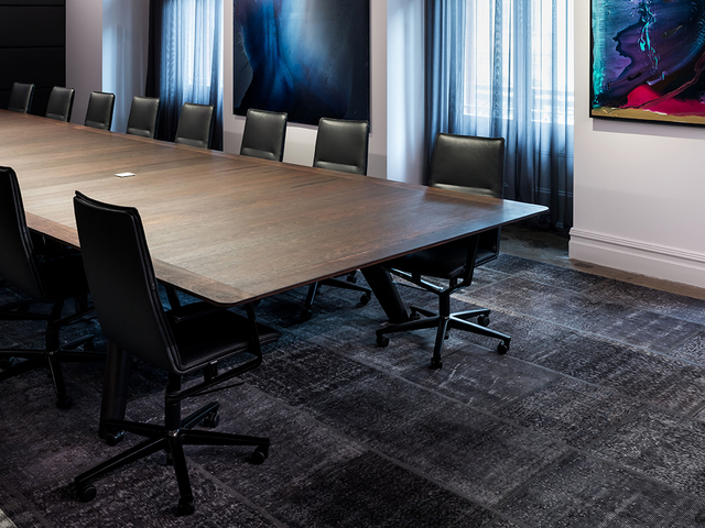 Vista St Boardroom table by Nathan Day Design - Boardroom Table, Ebonise, Solid Timber, Joinery, Commercial, Office Furniture, Meeting Table
