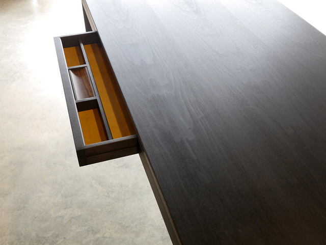 Irvine Desk by Nathan Day Design - Desk, Walnut, Custom Made, Drawers, Office Desk, Oak, Black, Ebonise