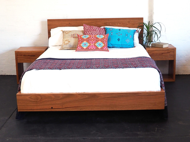 Paul's Floating Recycled Timber Bed by Retrograde Furniture - Floating Bed, Recycled Timber, Timber Bed, Custom Bed