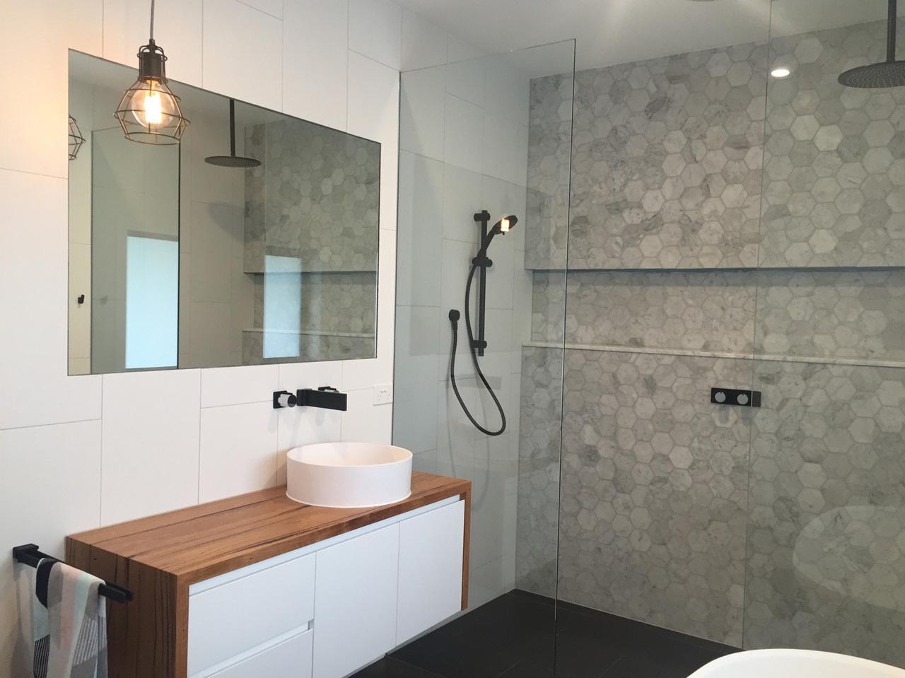 Custom Timber Bathroom Vanity Top By Retrograde Furniture