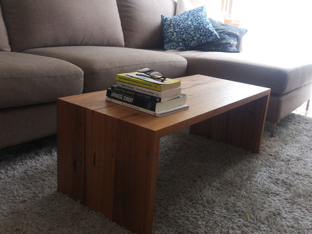 Erin's Minimalist Coffee Table by Retrograde Furniture - Minimal, Recycled Timber Table