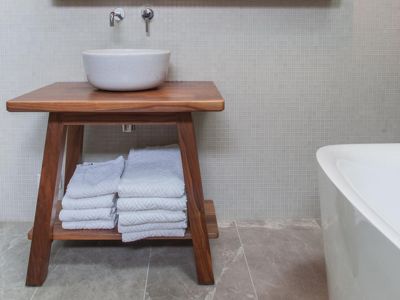 Custom Bathroom Vanities Wollongong bathroom trestle vanityaidan morris | handkrafted