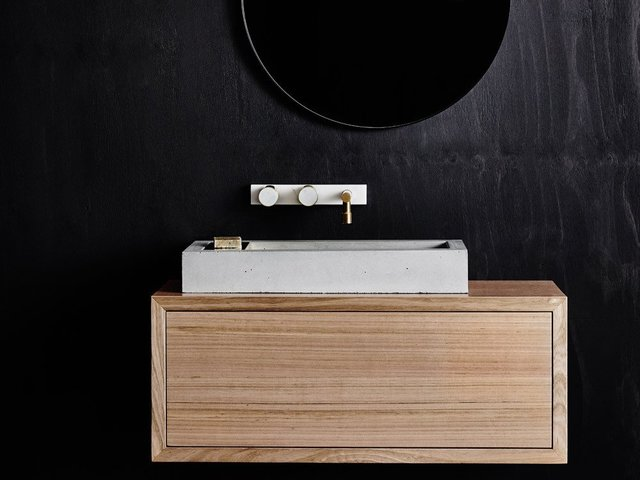 Aphra wall-hung vanity unit by Oliver Maclatchy - Bathroom, Vanity, Victorian Ash, Floating Vanity