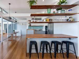 Bondi House by Aaron Pitt - Joinery, Fit Out, Bathroom, Kitchen, Timber, Blackwood, Dining Table