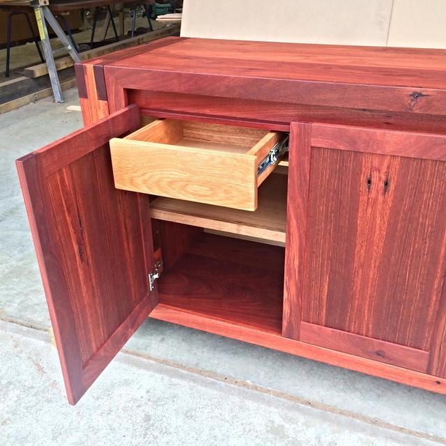 Recycled Jarrah Cabinet by Aaron Pitt - Jarrah