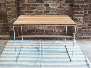 The Oxford by Tom Talevski - Wood, Steel, Table, Desk, Recycled Timber