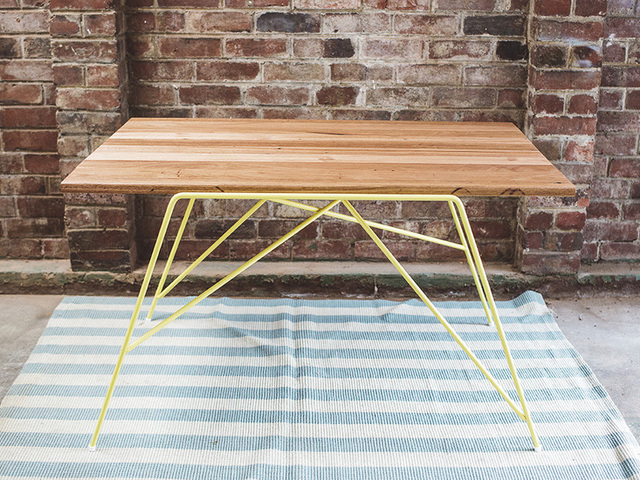 The Gordon by Tom Talevski - Table, Desk, Steel, Wood, Recycled Timber