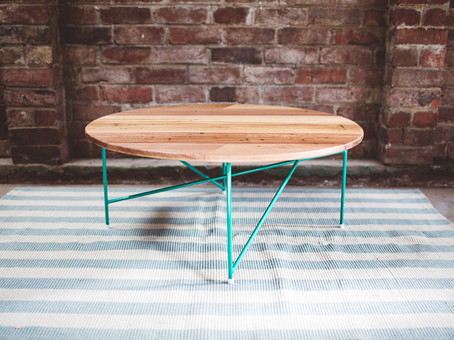 The Suffolk by Tom Talevski - Table, Coffee Table, Wood, Steel, Recycled Timber