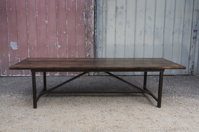Dining table by Samuel O'Donnell - Dining Table, Timber, Freestanding Furniture, Steel Base, Steel Patina, Ebonised, Australian Timber
