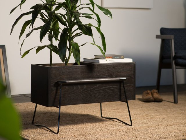 Tom Side Table / Planter by HUNT FURNITURE - Planter Box, Side Table, American Oak, Handmade, Indoor Planter Box, Plant Stand