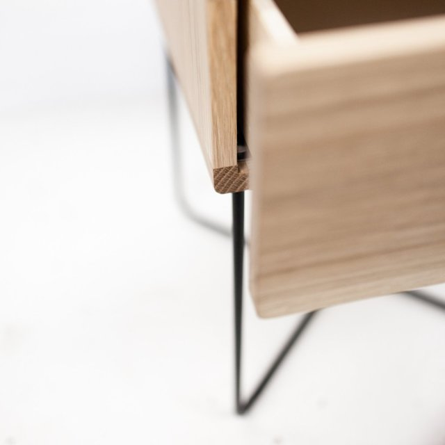 ST500 Bedside Table by HUNT FURNITURE - American Oak, Bedside Table, Side Table, Minimalistic