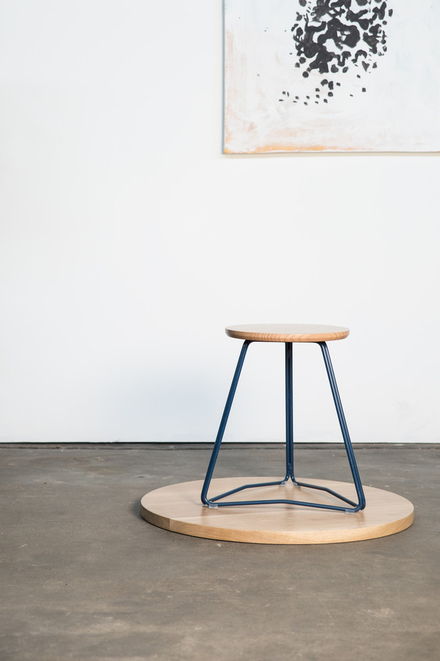 TRI450 Stool by HUNT FURNITURE - American Oak, Tasmanian Oak, Stool