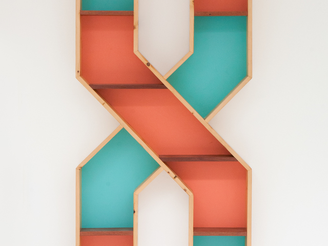 the X by Luke  Neil - Timber, Art, Bookshelf, Reclaimed, Recycled