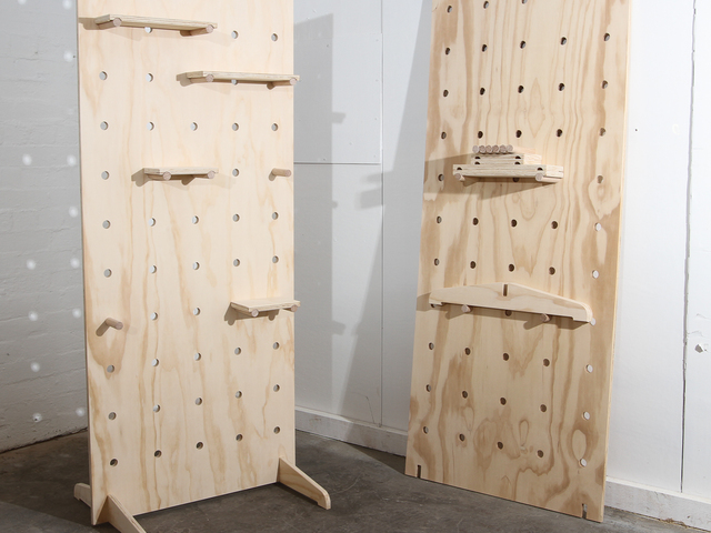 Plywood Pegboard by Like Butter - Pegboard, Plywood, Wall Organization, Raw Finish