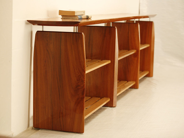 Mahogany & Brushbox Entertainment Unit by Holger Schumann - Media Unit, Entertainment Unit, Tv Unit, Mahogany