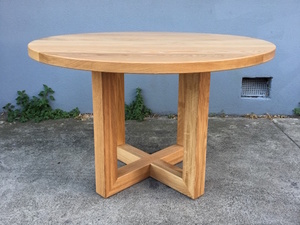 Round American Oak Dining Table by Anthony Kleine - Dining Table, American Oak, Table
