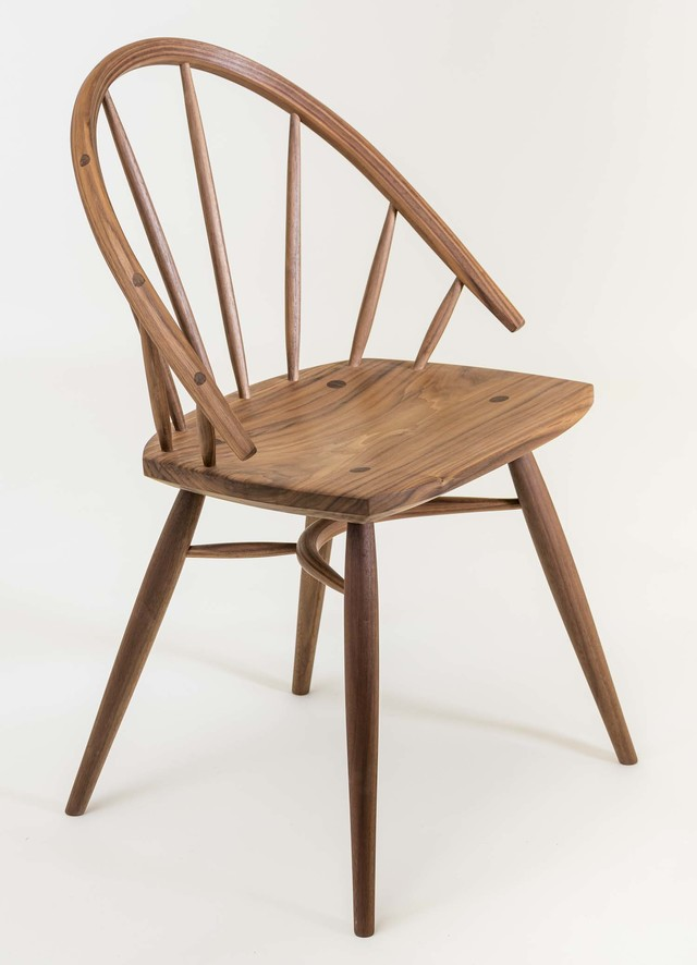 Lowbow Diner by Bernard Chandley - Chair, Dining Chair, American Black Walnut, Contemporary, Versatile, Timber, Minimalistic