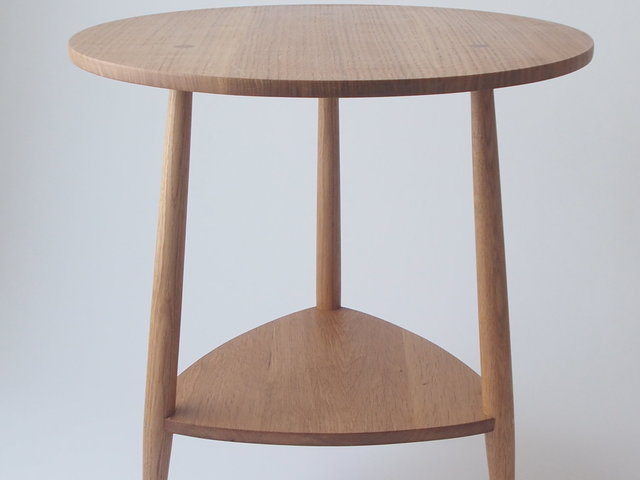 Oak Bedside Table by Bernard Chandley - Bedside Table, Minimalistic