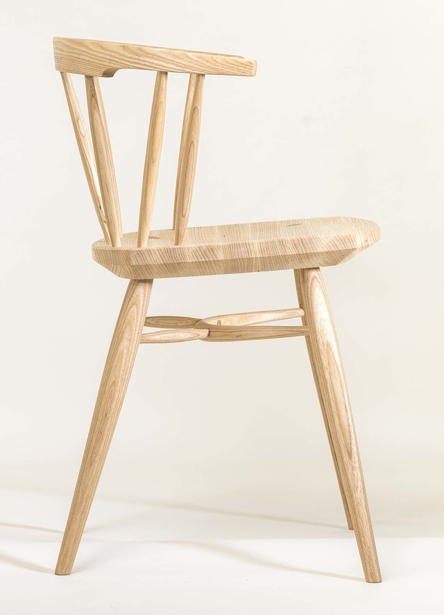 Lowback Diner by Bernard Chandley - Dining Chair, Contemporary Furniture, American White Ash, Chair