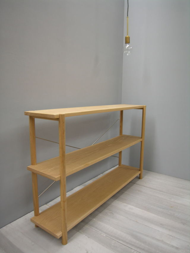 Shelving Unit / Entertainment Unit by Chris Colwell - Shelving Unit, Entertainment Unit, American Oak, Timber, Customised, Made To Order, Custom Made, Bookcase, Media Console, Sustainable