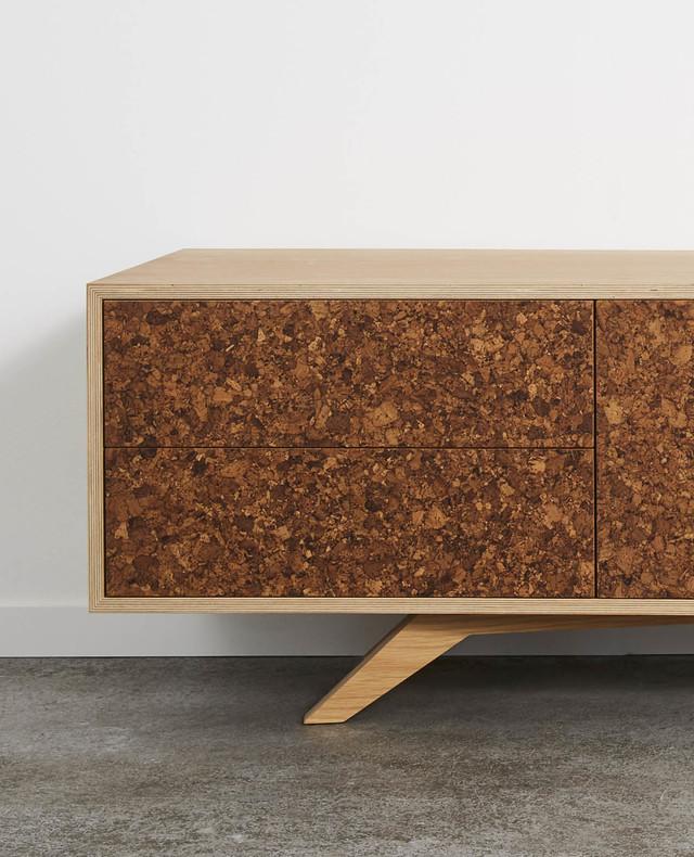 Kork Entertainment Unit by Felix Furniture - Cork, American Oak, Plywood, Tv Unit, Entertainment Unit