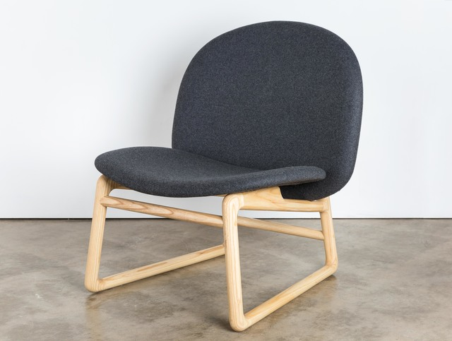 Husk Low Chair by Matt Pearson - Timber, Low, Chair, Lounge, Armchair, Seating, Upholstered, Fabric