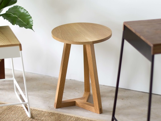 Les - Side Table by Lee Sinclair Design Co - Oak, Sidetable, Three Way, Mitred, Table, Occasional